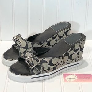 Coach Alyssa Jacquard Wedge Sandal